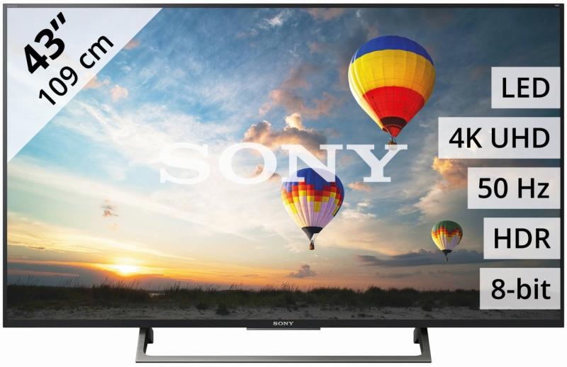 SONY KD-43XE8099 109CM Ultra HD 4K  met DVB-S/C/T