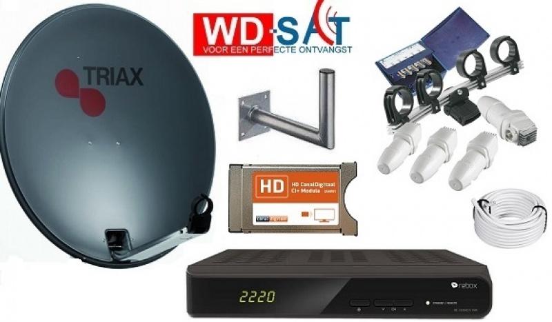 HDTV Huis schotelset Astra 19.2 / 23.5 / 28.5 en Hotbird