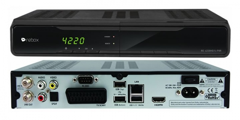 Rebox RE-4220HD S-PVR satelliet ontvanger