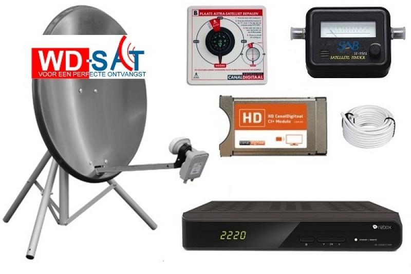 HD Recreatie schotelset Rebox RE-2220 12/220 volt