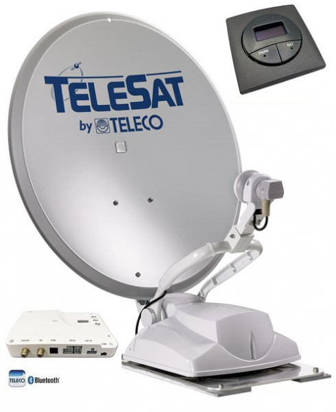 Teleco Telesat BT 65cm, Panel 16 SAT, Bluetooth Zelfzoekend Satelliet systeem