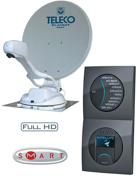 Teleco Flatsat Easy SMART Diseqc 85cm Zelfzoekend Satelliet systeem
