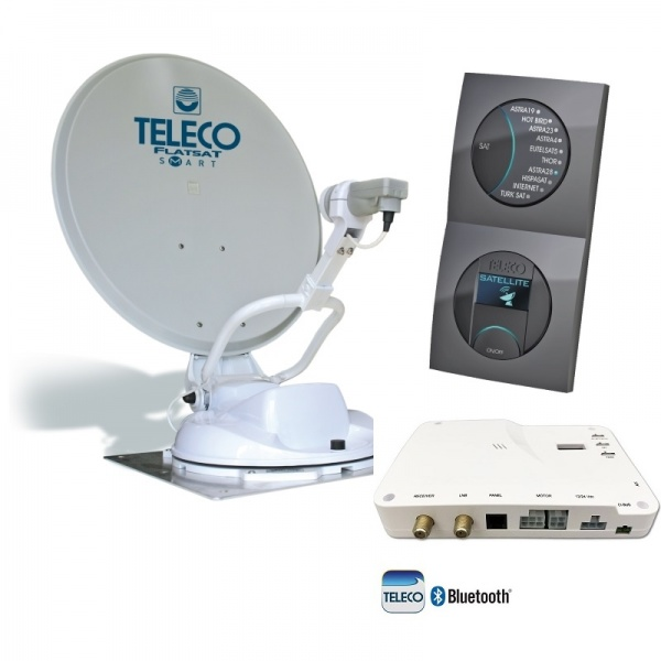 Teleco Flatsat SKEW Easy BT 85 SMART, P16 SAT, Bluetooth GPS Zelfzoekend Satelliet systeem