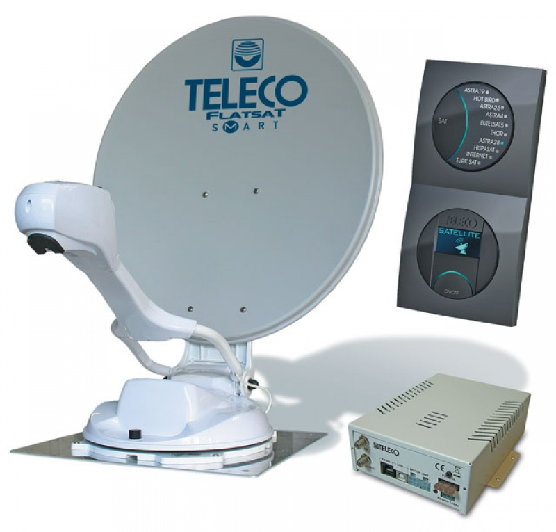 Teleco Flatsat Skew Easy SMART Diseqc GPS 85cm Zelfzoekend Satelliet systeem