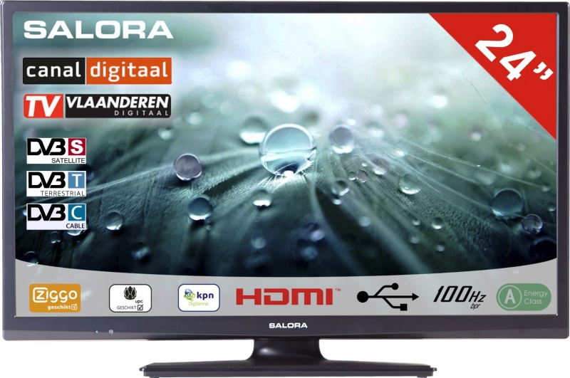 Salora 24LED9109 DVB-C/T/S-S2 CD/Ziggo HD TV