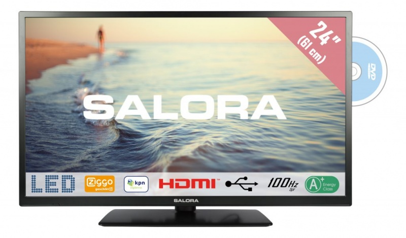 Salora 24LED9109 61cm DVB-C/T/S-S2 + DVD CD/Ziggo HD TV
