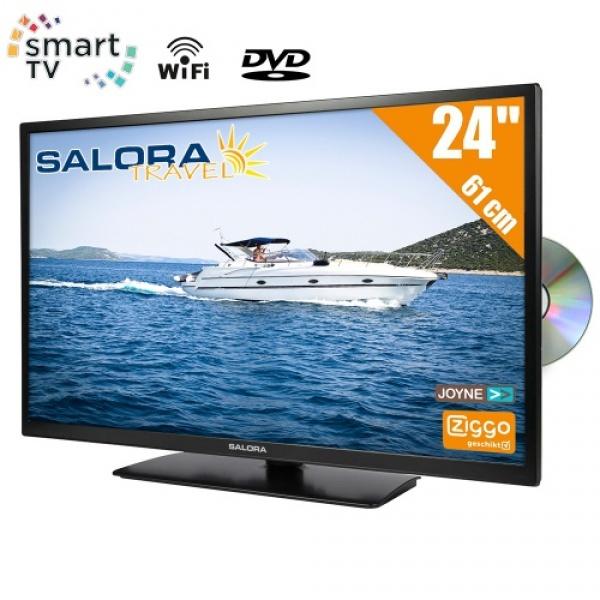 Salora 24LED9109 61cm Smart DVB-C/T2/S-S2 + DVD CD/Ziggo HD TV