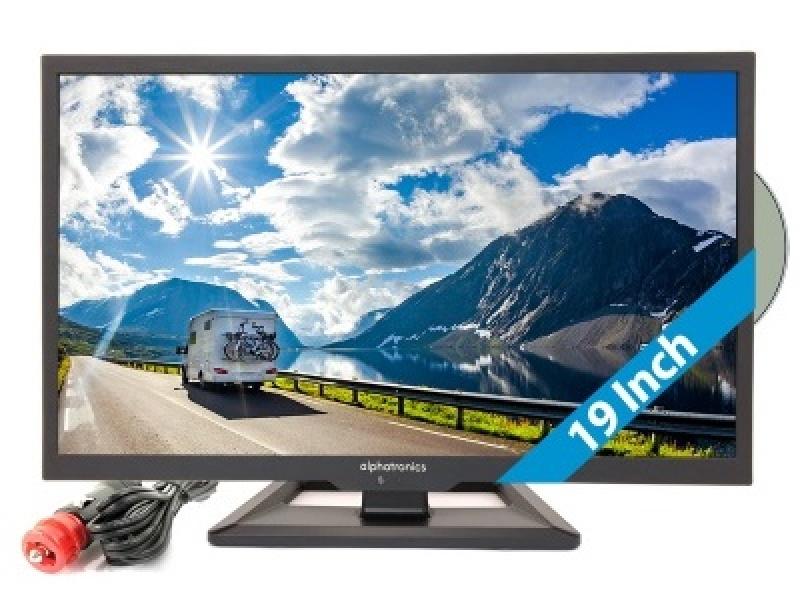 Alphatronics SL-19 DS 48cm LED TV 19 Inch met DVB-S/S2, DVB-T/T2 Tuner en DVD