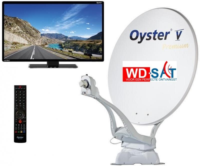 Oyster Vision V 85cm TWIN PREMIUM zelfzoekend 47cm TV