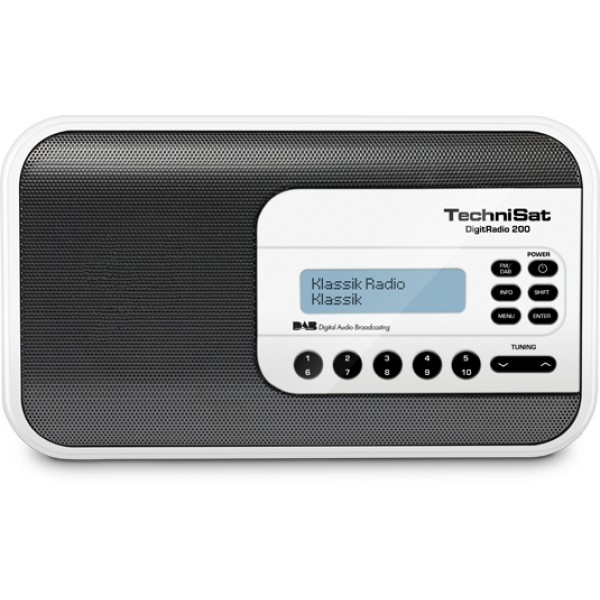Technisat DigitRadio 200 wit FM/DAB+ portable