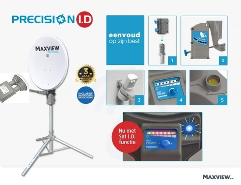 Maxview Precision 65cm schotelset DUO LNB