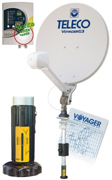 Teleco Voyager G3 Digimatic 65cm handbediend satelliet systeem