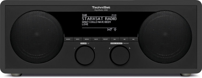 Technisat DigitRadio 450 Dab+ FM Internet + bluetooth Antraciet