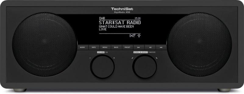 Technisat DigitRadio 450 Dab+ FM Internet + bluetooth Antraciet