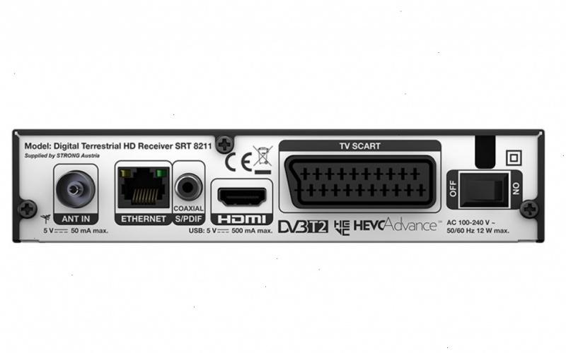 Strong SRT 8211 Terrestrial DVB-T2 set-top box Digitenne-TV ontvanger