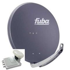 Fuba DAA-650 65cm schotel antraciet + Canaldigitaal Triple lnb